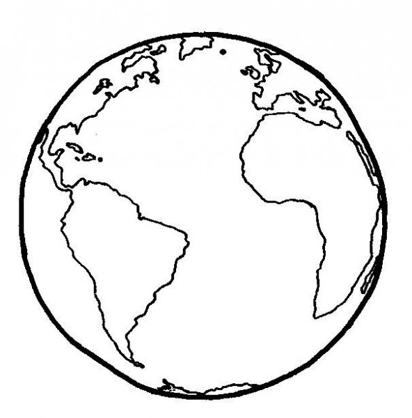 Globo Terráqueo  Dibujo Simple Sin Coordenadas
