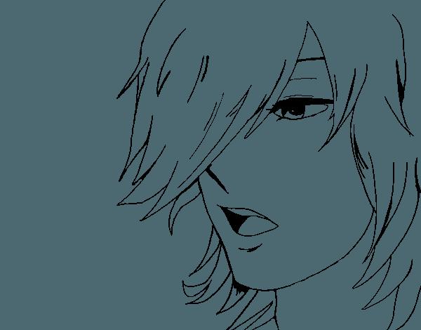 Dibujo De Chico Anime Para Colorear