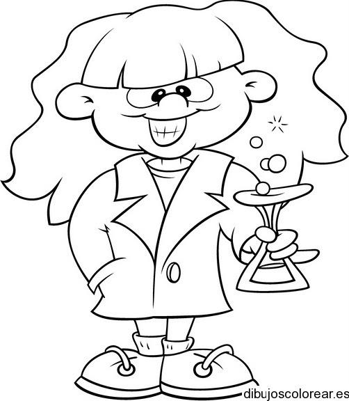 Dibujo De Una Científica