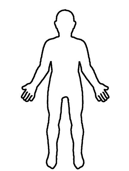 Cuerpo Humano Para Colorear