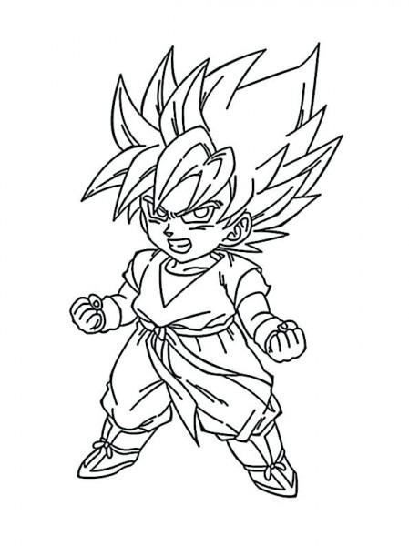 Juegos De Colorear A Goku