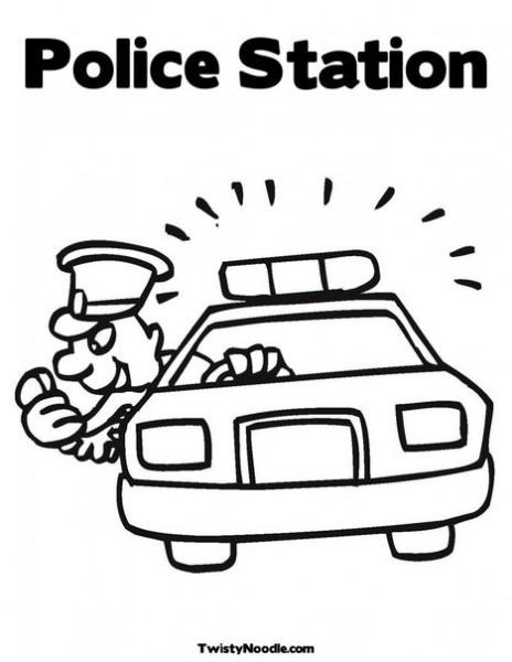 Imagenes De Police Station Para Colorear