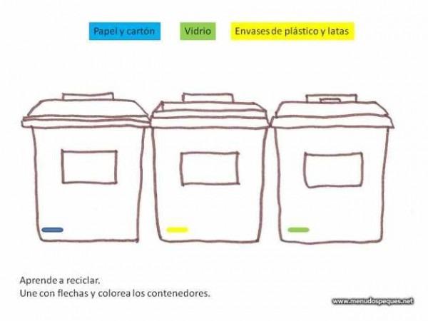 Contenedores De Reciclaje Para Colorear