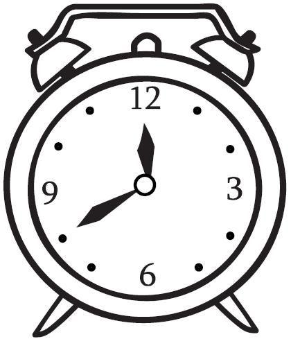 Colorea Tus Dibujos  Reloj Despertador Para Colorear Y Pintar