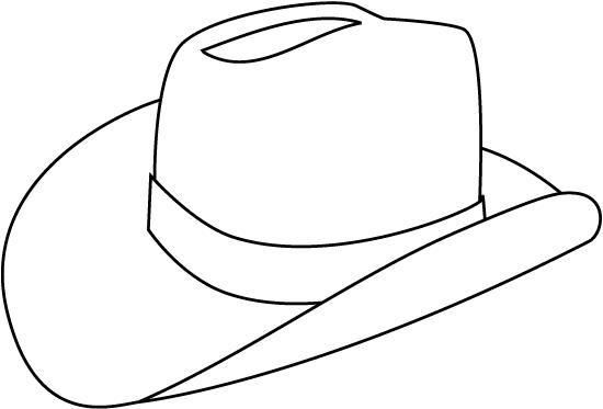 Coloring Page Cowboy Hat
