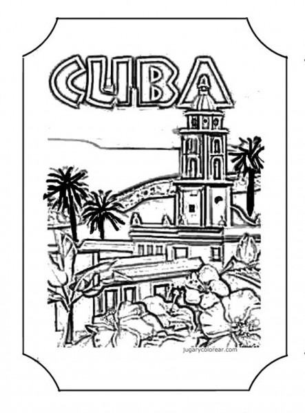 Dibujos Para Colorear De Cuba