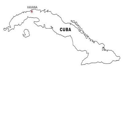Mapa De Cuba Para Colorear ~ 4 Dibujo