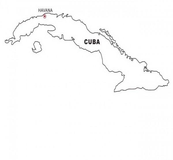 Colorea Tus Dibujos  Mapa De Cuba Para Colorear