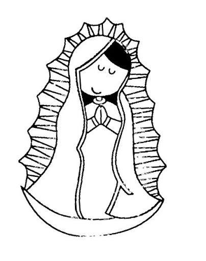 Dibujos De La Virgencita Plis Para Colorear