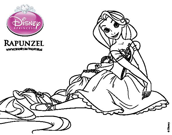 Dibujos Para Colorear Rapunzel