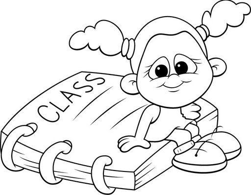 Dibujos De Niños En La Escuela Para Pintar