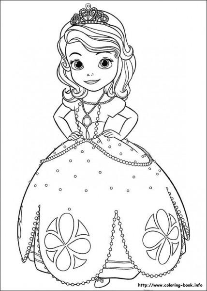 Princesa Sofia Para Colorear