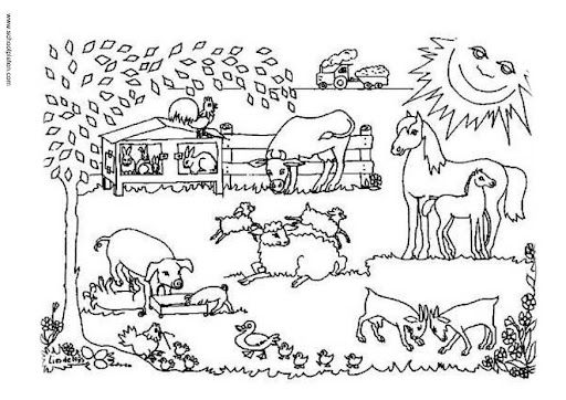 Dibujos De Animales De Granja Para Colorear E Imprimir 2