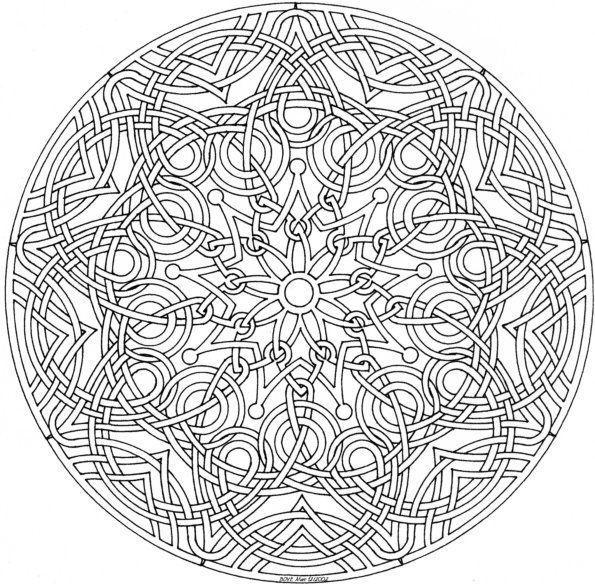 Dibujos Para Colorear Mandalas Dificiles