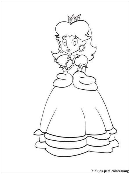 Dibujo De Princesa Daisy De Mario Para Pintar