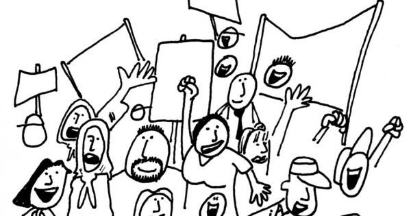 Dibujo Para Colorear Sobre La Democracia