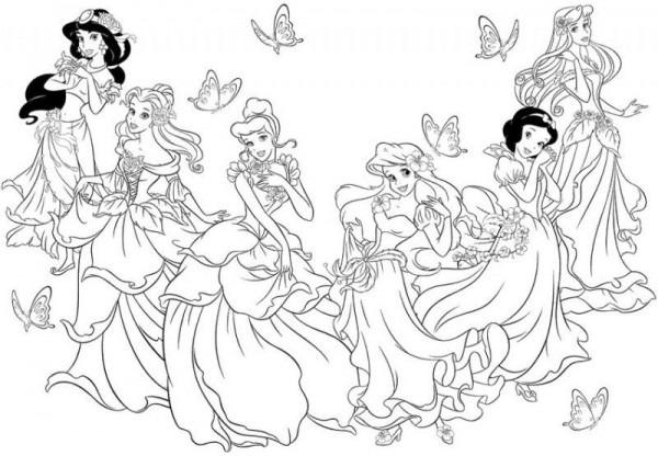 Descargar Dibujos Princesas Disney Para Colorear