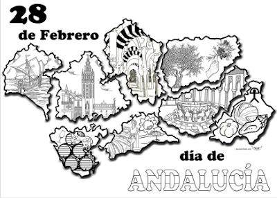 Aprender Es Divertido  DÍa De AndalucÍa (dibujos Para Colorear)