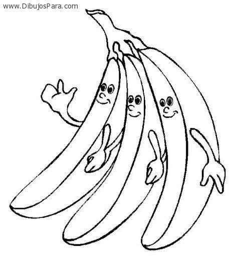 Dibujo De Bananas Sonriendo – Dibujos Para Colorear