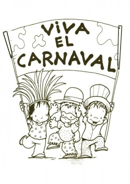 Dibujos De Carnaval Para Colorear