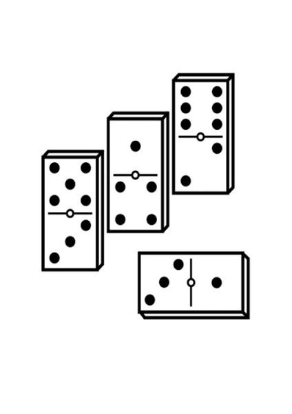 Dibujo De Domino Para Colorear