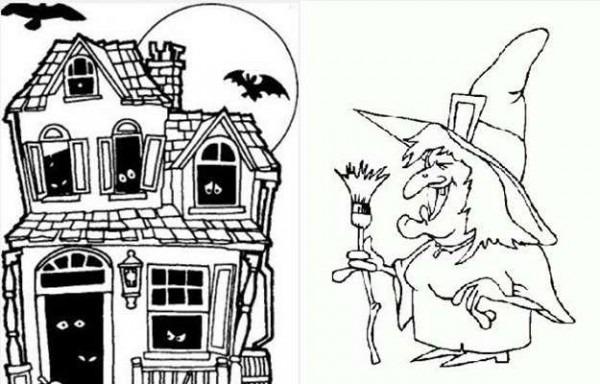 Halloween  Dibujos Para Imprimir Y Colorear Para Niños [fotos