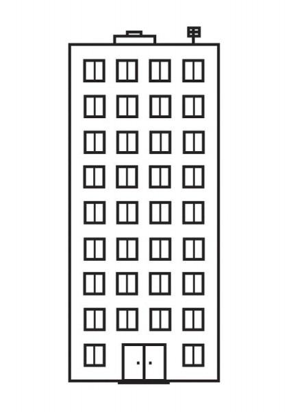 Dibujo Para Colorear Apartamento