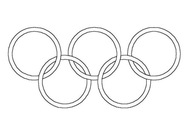 Dibujo Para Colorear Aros Olímpicos