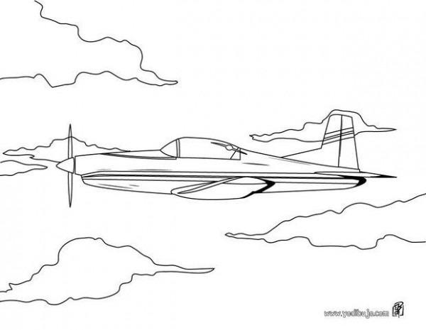 Dibujos Para Colorear Avion De Guerra