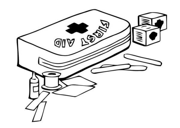 Dibujo Para Colorear Botiquín De Primeros Auxilios