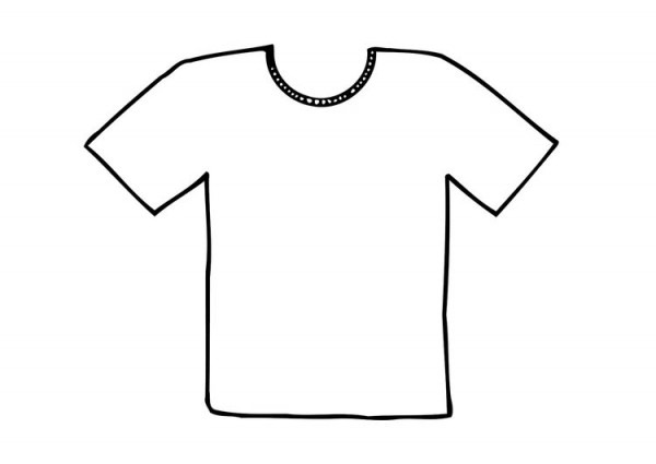 Dibujo Para Colorear Camiseta