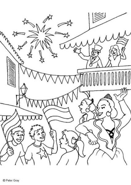 Dibujo Para Colorear Carnaval