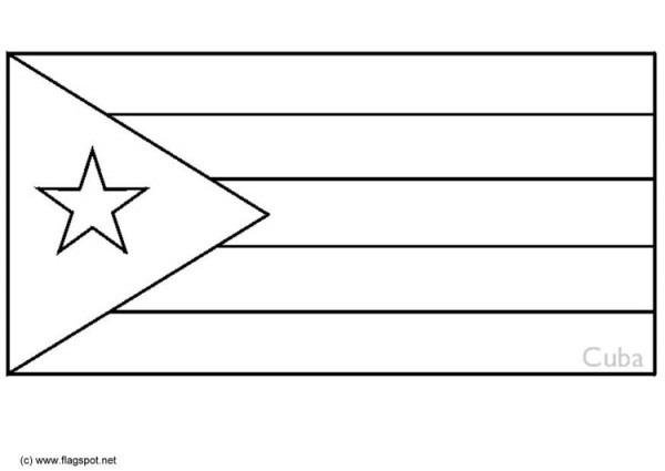 Dibujo Para Colorear Cuba