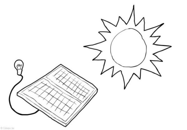 Dibujo Para Colorear Energía Solar