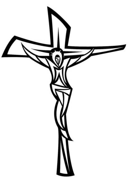 Dibujo Para Colorear Jesús En La Cruz