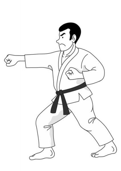 Dibujo Para Colorear Judo