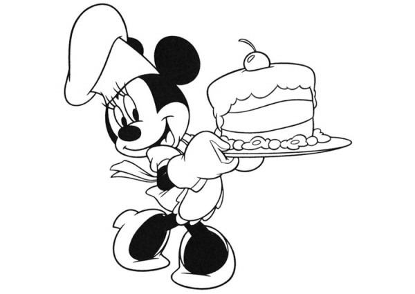 Dibujo Para Colorear Minnie Mouse