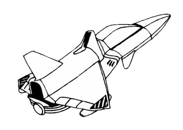 Dibujo Para Colorear Nave Espacial