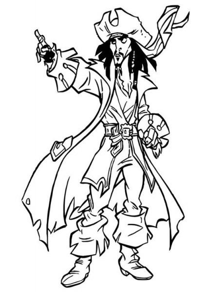Dibujo Para Colorear Piratas Del Caribe