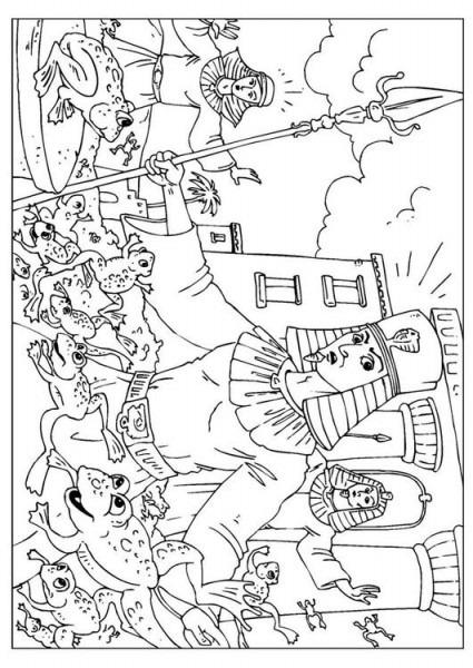Dibujo Para Colorear Plaga De Las Ranas