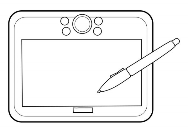 Dibujo Para Colorear Tableta Gráfica