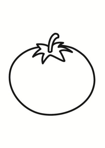 Dibujo Para Colorear Tomate