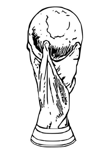 Dibujo Para Colorear Trofeo De La Copa Del Mundo