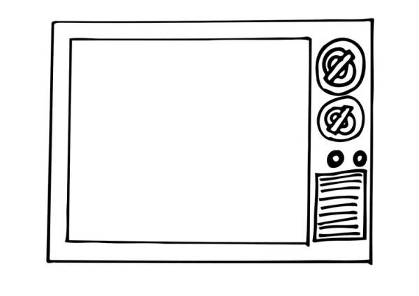 Dibujo Para Colorear Tv