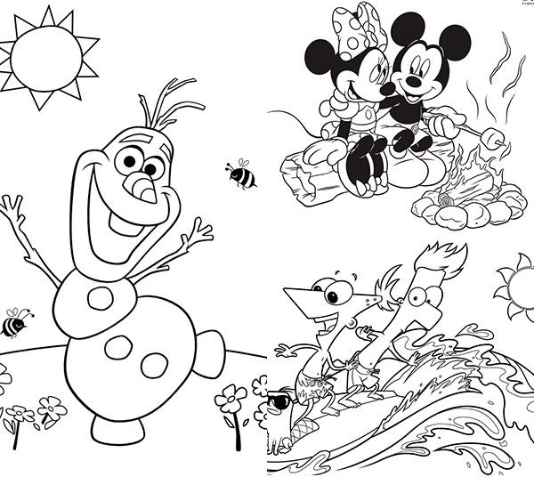 25 Dibujos Para Colorear Sobre El Verano