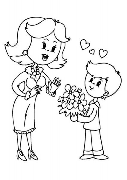 Imágenes Del Día De La Madre Con Dibujos Para Descargar, Imprimir