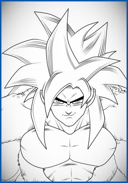Dragon Ball Z Para Colorear Goku Fase Dios Vs Bills