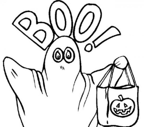 Fantasmas De Halloween  Fotos Dibujos Para Colorear (foto)