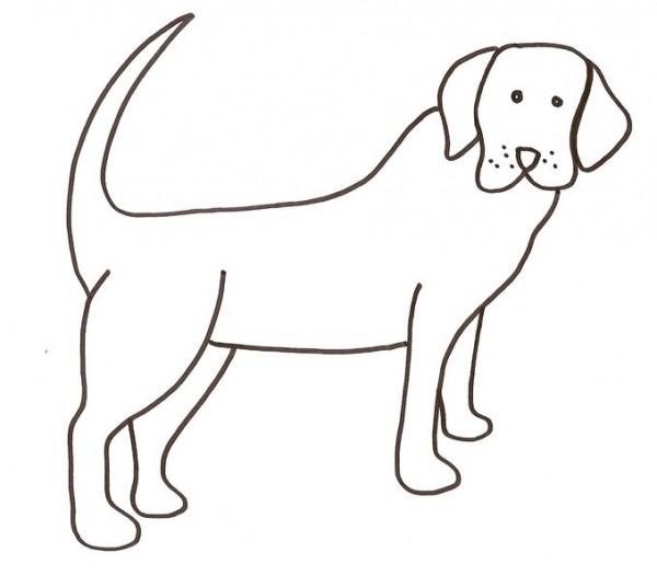 Perro Para Colorear Facil