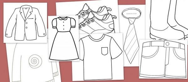Dibujos Para Colorear  Fichas De Prendas De Vestir